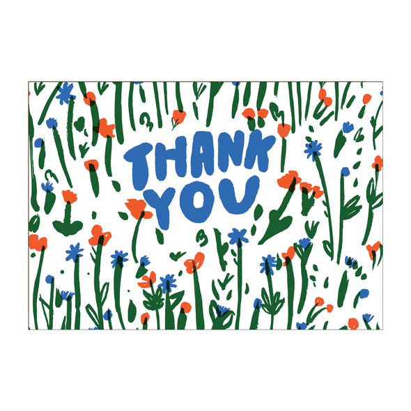 Thank You Meadow Card by Egg Press
