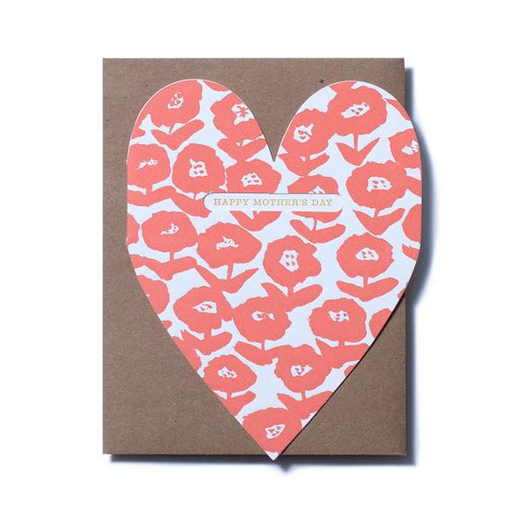 Bold Flower Mom Heart Mother's Day Card by Egg Press