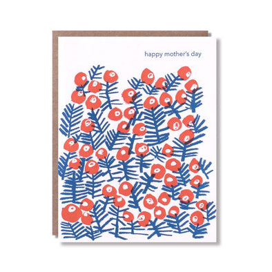 Flower Bush Mother's Day Card by Egg Press
