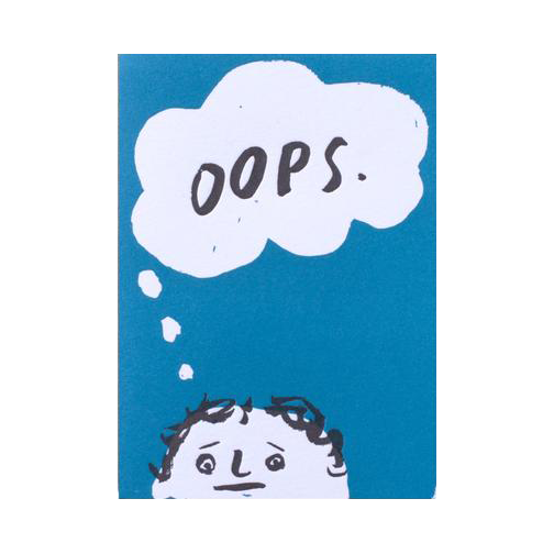 Oops Thought Bubble Card by Egg Press