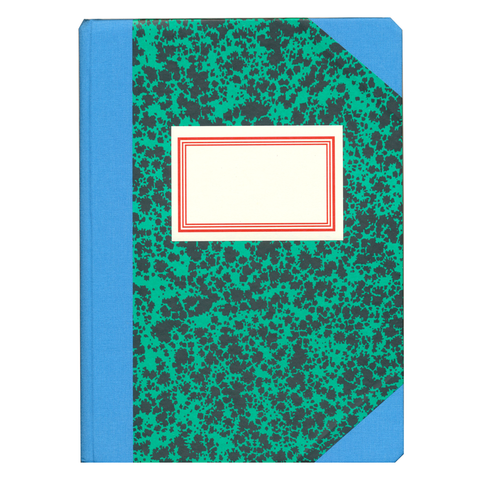 Exclusive A5 Green Notebook by Emilio Braga