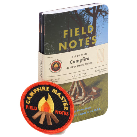 Campfire Set of 3 Memo Books by Field Notes