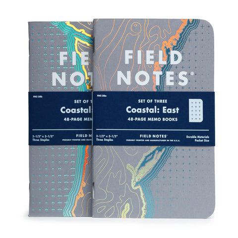 Coastal Notebook 3-Pack by Field Notes