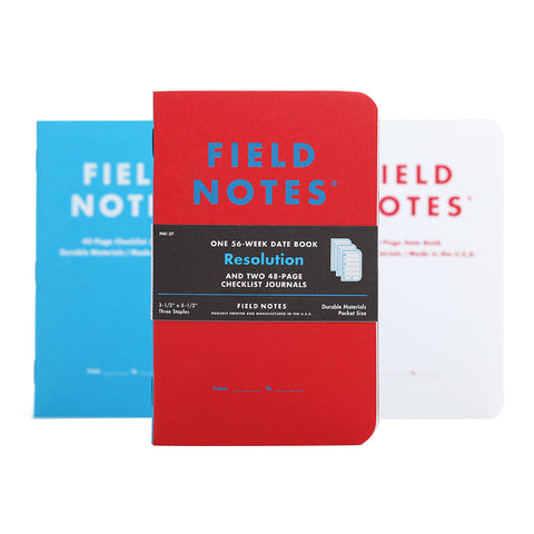 Resolution Planner Notebook Set by Field Notes