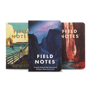 National Parks Graph Memo Book 3-pack by Field Notes
