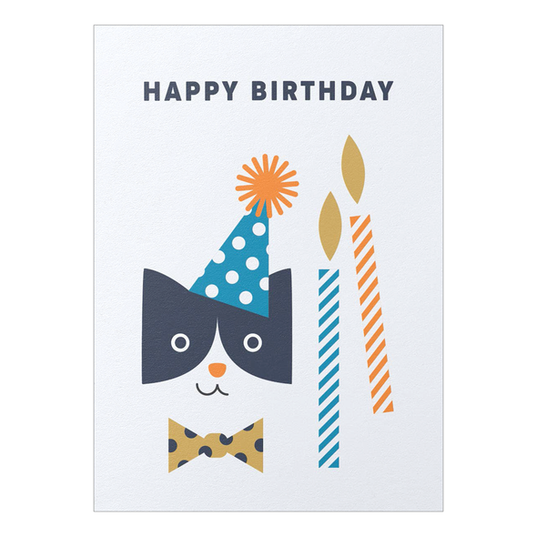 Happy Birthday Party Cat Card by Graphic Factory