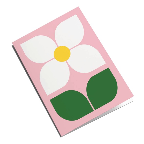 Flower Pink Card by Graphic Factory