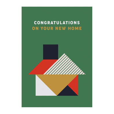 Congratulations on Your New Home Card by Graphic Factory