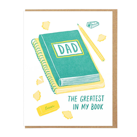 Greatest Dad in My Book Card by Lucky Horse Press
