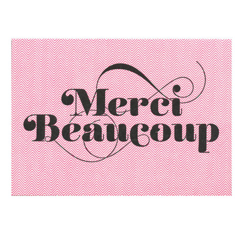Merci Beaucoup Card by Greenwich Letterpress