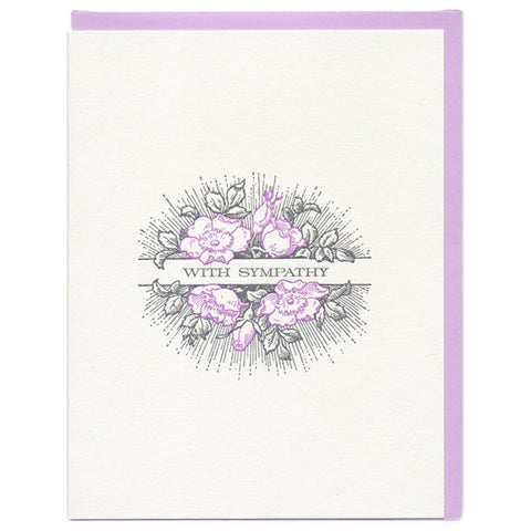 Radiant Flowers Sympathy Card by Greenwich Letterpress