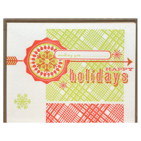 Happy Holidays Insignia Card Set by Hammerpress