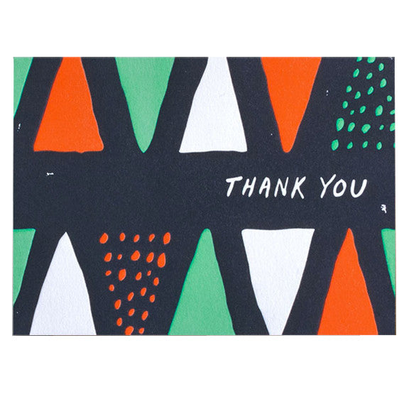 Thank You Cones & Dots Card Set by Hammerpress