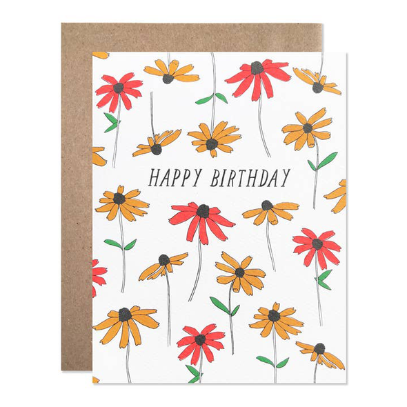 Happy Birthday Black Eyed Susan Card by Hartland