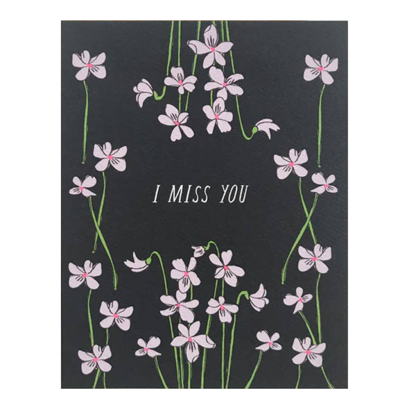 I Miss You Violets Card by Hartland