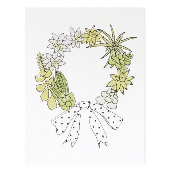 Hartland Brooklyn Succulent Wreath Card Set