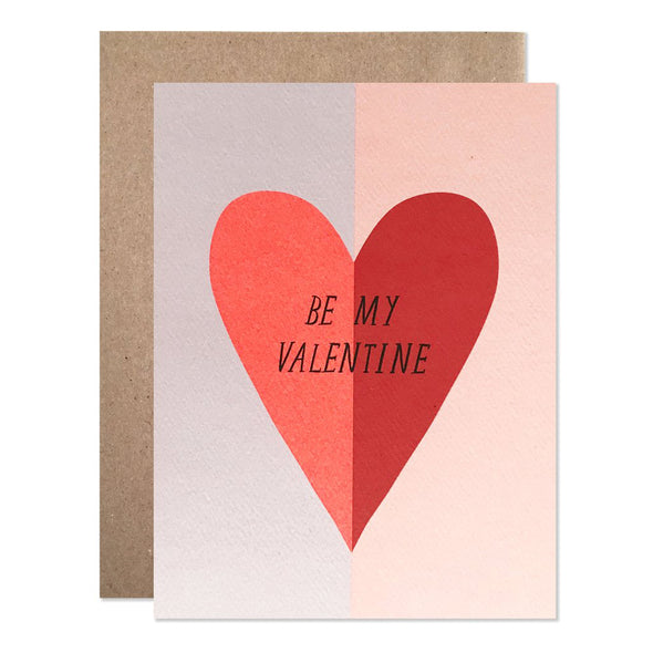 Be My Valentine Large Heart Card by Hartland Brooklyn