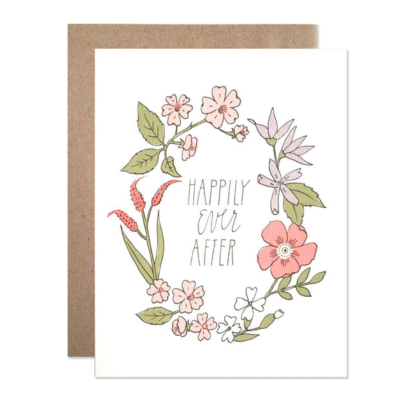 Happily Ever After Wreath Card by Hartland Brooklyn