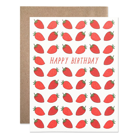Happy Birthday Strawberries Card by Hartland