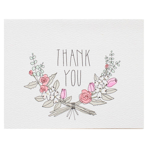 Thank You Floral Card by Hartland Brooklyn