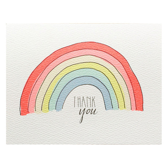 Thank You Rainbow Card by Hartland Brooklyn
