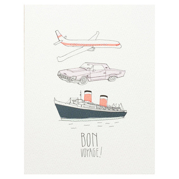 Bon Voyage Card by Hartland Brooklyn