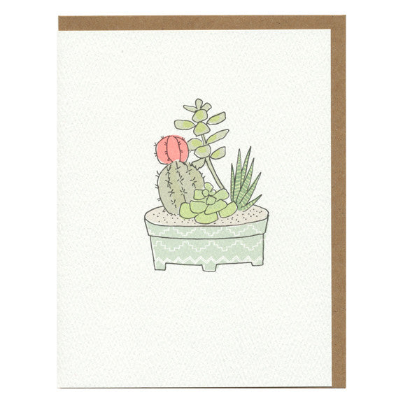 Cactus Garden Card by Hartland Brooklyn