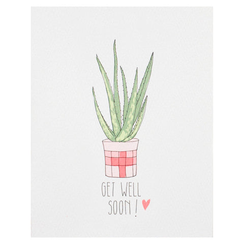 Get Well Soon Aloe Card by Hartland Brooklyn