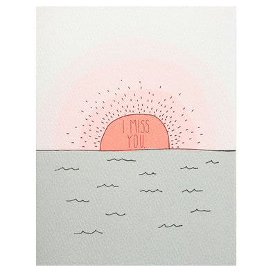 Miss You Sunset Card by Hartland Brooklyn