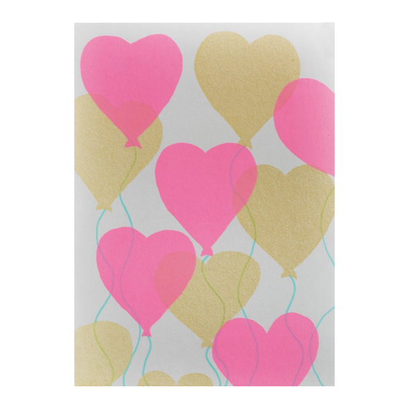 Heart Balloons Card by Gold Teeth Brooklyn