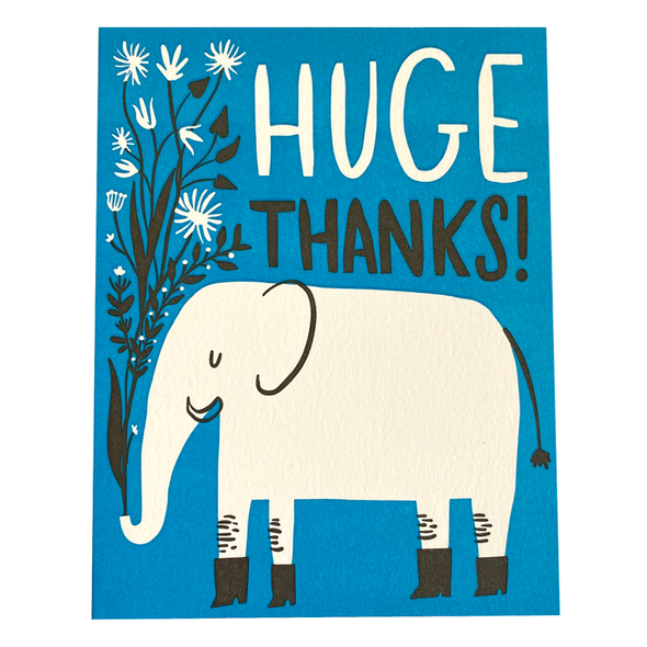 Huge Thanks Card by Hello Lucky