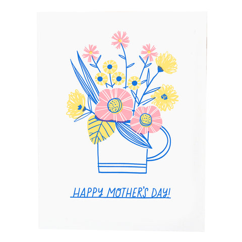 Hello Lucky Cup of Flowers Mother's Day Card