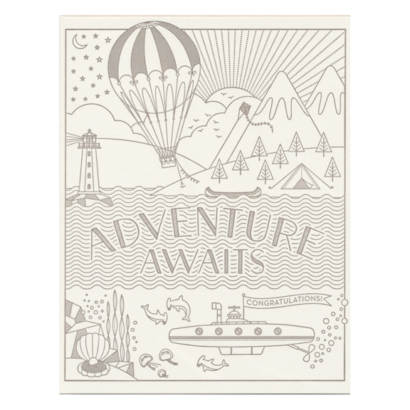 Adventure Awaits Card by Hello Lucky