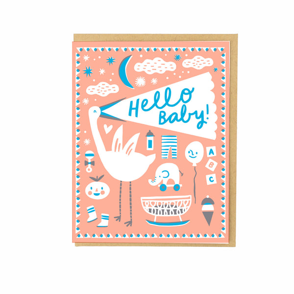 Paper Cut Baby Card by Hello Lucky