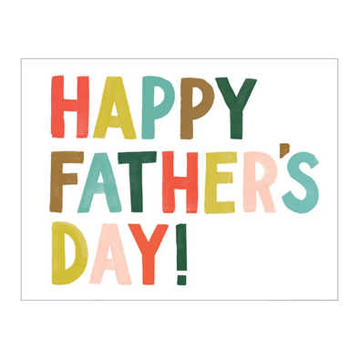Colorful Letters Father's Day Card by Idlewild