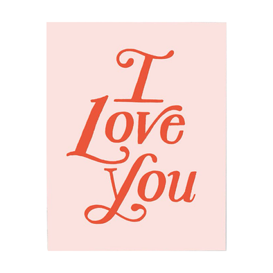 I Love You Paperback Card by Idlewild