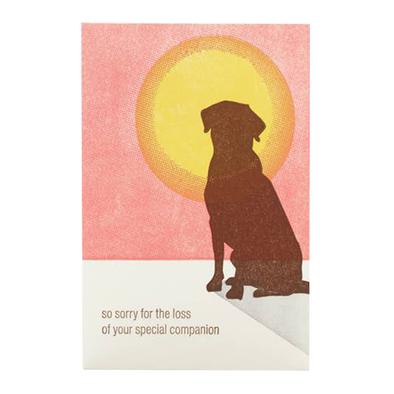 Dog Sympathy Card by Ilee