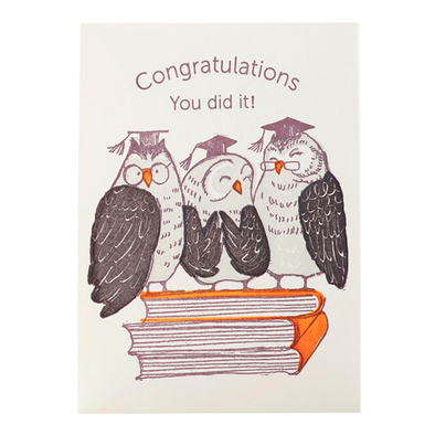 Owls Congrats You Did It Notecard by Ilee