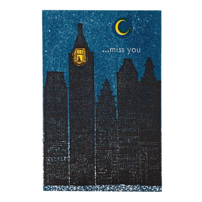 Buildings Miss You Card by Ilee