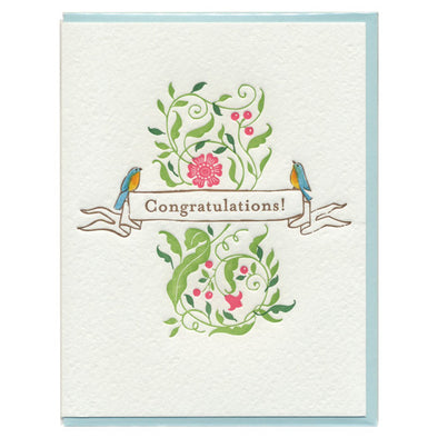 Robins Congratulations Card by Ilee