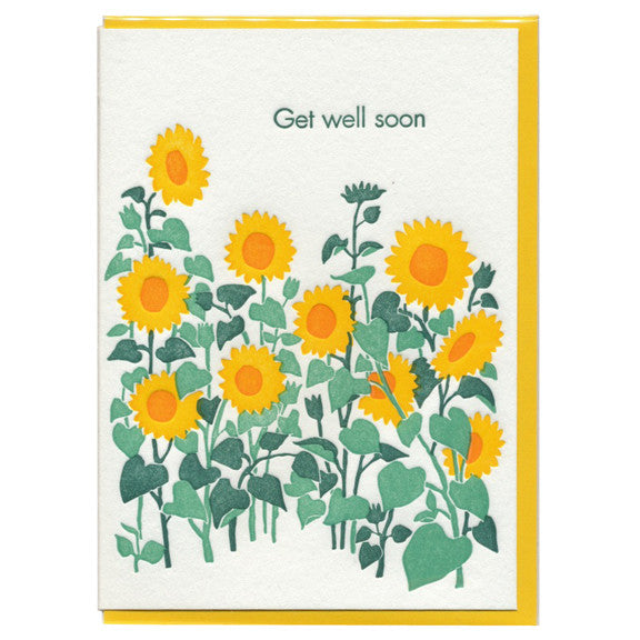 Sunflowers Get Well Card by Ilee