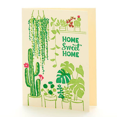 House Plants Home Sweet Home Card by Ilee