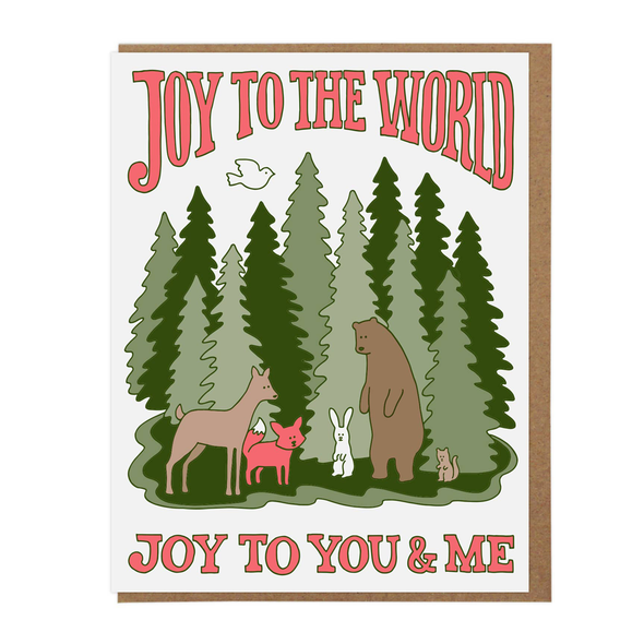 Joy to the World Woodland Card by Lucky Horse Press