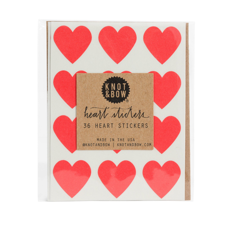 Heart Stickers by Knot & Bow
