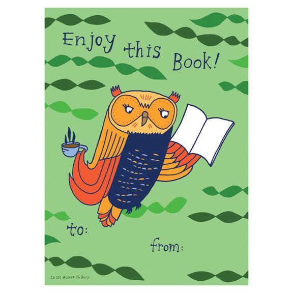 Jo Dery Owl Book Gift Tag Set by Little Otsu