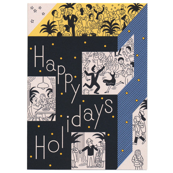 Tomi Um Happy Holidays Card by Little Otsu