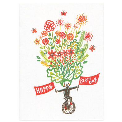 Ayumi Piland Birthday Unicycle Card by Little Otsu