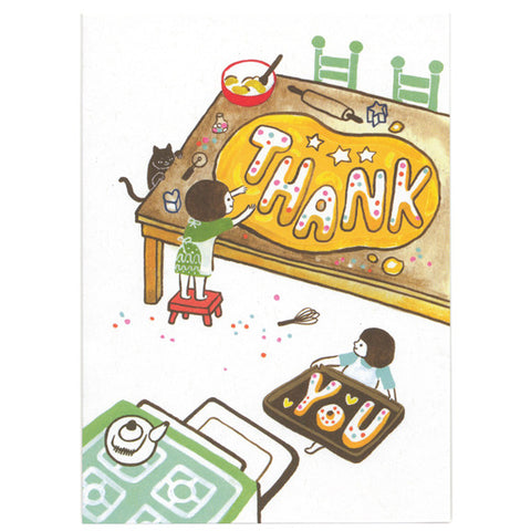 Ayumi Piland Thank You Cookies Card by Little Otsu
