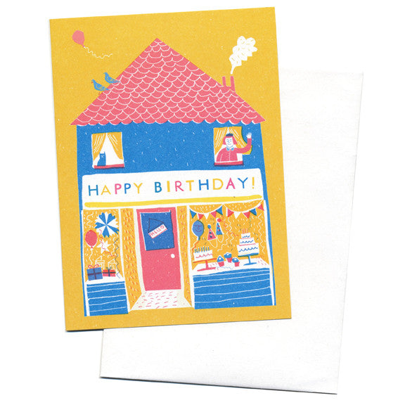 Louise Lockhart Birthday Shop Card by Little Otsu