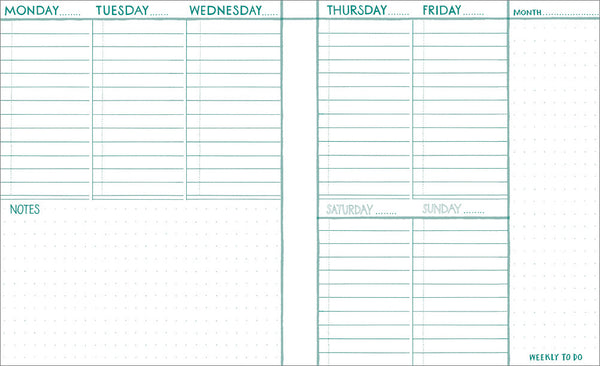 Little Otsu Week to Week Planner - Waves